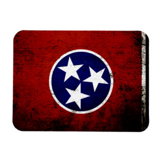 Black Grunge Tennessee State Flag Flexible Magnets