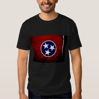 Black Grunge Tennessee State Flag T-shirt