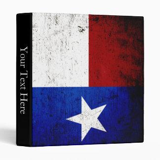 Black Grunge Texas State Flag 3 Ring Binder