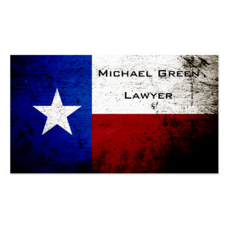 Black Grunge Texas State Flag Business Card