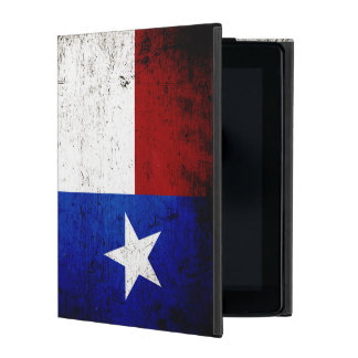 Black Grunge Texas State Flag iPad Folio Case