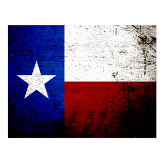 Black Grunge Texas State Flag Postcards