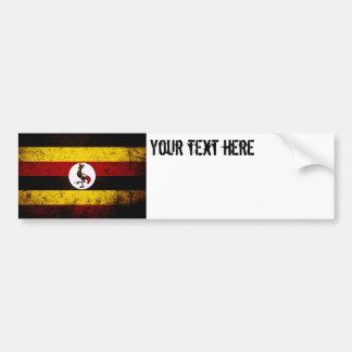 Black Grunge Uganda Flag Bumper Sticker