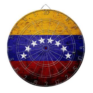 Black Grunge Venezuela Flag Dart Boards