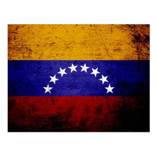 Black Grunge Venezuela Flag Postcards