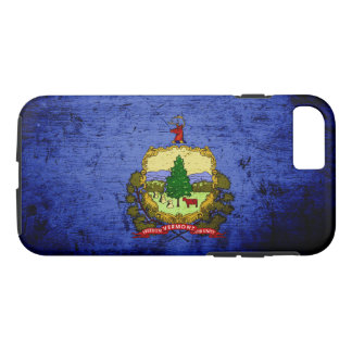 Black Grunge Vermont State Flag iPhone 8/7 Case