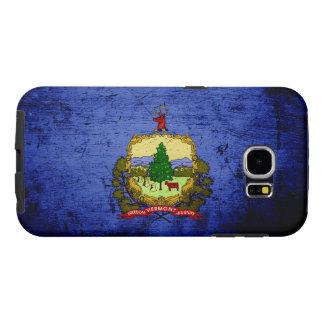 Black Grunge Vermont State Flag Samsung Galaxy S6 Cases
