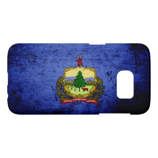 Black Grunge Vermont State Flag Samsung Galaxy S7 Case