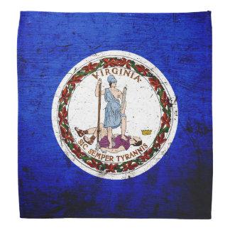 Black Grunge Virginia State Flag Bandana