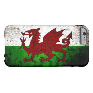 Black Grunge Wales Flag Barely There iPhone 6 Case