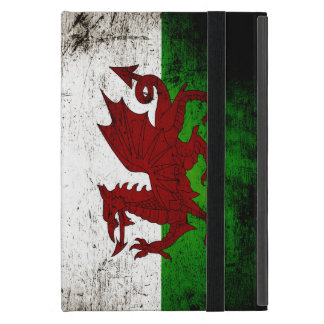 Black Grunge Wales Flag Case For iPad Mini