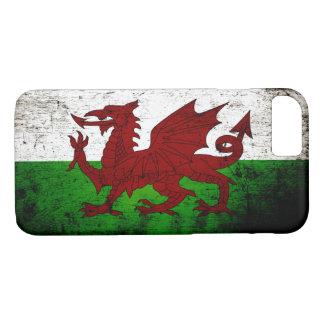 Black Grunge Wales Flag iPhone 7 Case