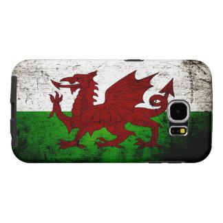 Black Grunge Wales Flag Samsung Galaxy S6 Case