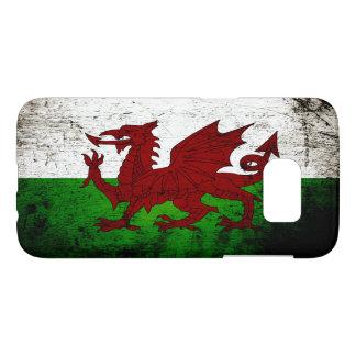 Black Grunge Wales Flag Samsung Galaxy S7 Case