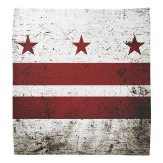 Black Grunge Washington DC Flag Bandana