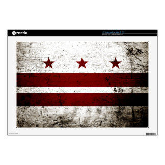 Black Grunge Washington DC Flag Laptop Decals