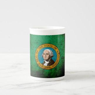 Black Grunge Washington State Flag Tea Cup