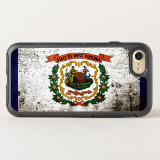 Black Grunge West Virginia State Flag OtterBox Symmetry iPhone 7 Case