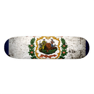 Black Grunge West Virginia State Flag Skateboard