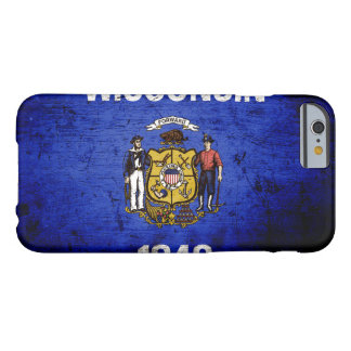 Black Grunge Wisconsin State Flag Barely There iPhone 6 Case
