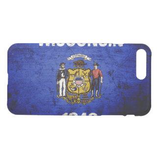 Black Grunge Wisconsin State Flag iPhone 8 Plus/7 Plus Case