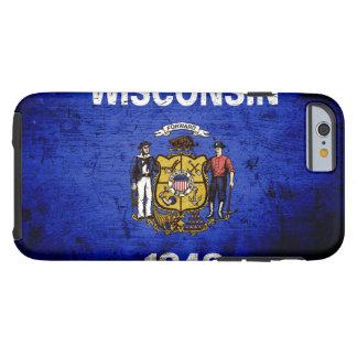 Black Grunge Wisconsin State Flag Tough iPhone 6 Case
