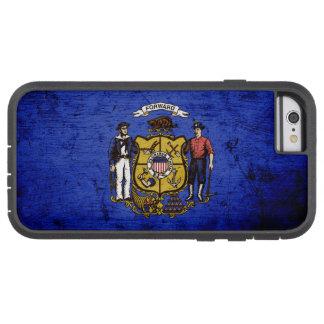 Black Grunge Wisconsin State Flag Tough Xtreme iPhone 6 Case