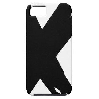 Black Grunge X iPhone SE/5/5s Case