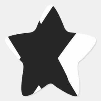 Black Grunge X Star Sticker