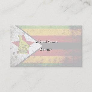 Zimbabwe business cards zazzle black grunge zimbabwe flag business card reheart Image collections