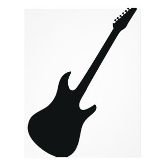 black guitar icon personalized flyer