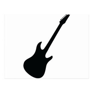 black guitar icon post cards