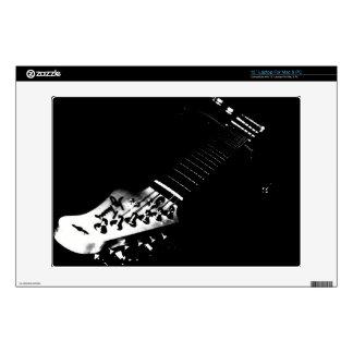 Black Guitar Laptop Skin For Mac & PC