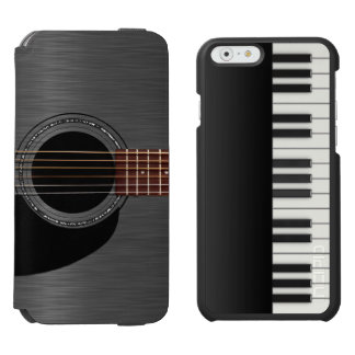 Black Guitar Piano Combo iPhone 6/6s Wallet Case