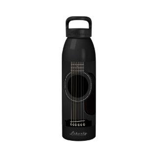 Black Guitar Drinking Bottle