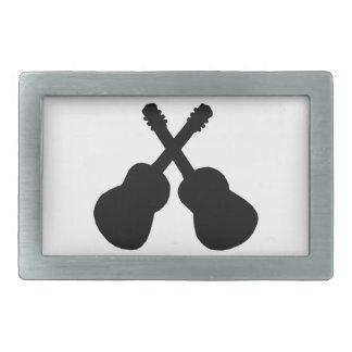 black guitars rectangular belt buckle