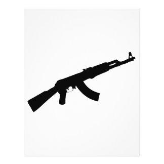 """black gun ak 47 icon 8.5"""" x 11"""" flyer"""