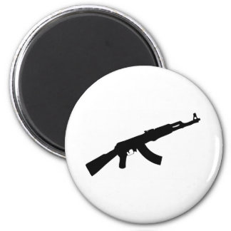 black gun ak 47 icon magnet