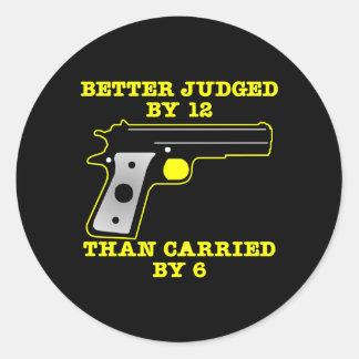 Black Gun Better Tried By 12 Round Stickers