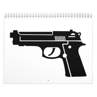 Black gun calendar