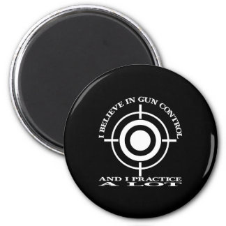 Black Gun Control Practice Lot 2 Inch Round Magnet