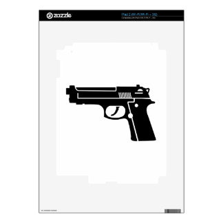 Black gun decal for iPad 2