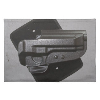 Black Gun / Firearm Holster Cloth Placemat