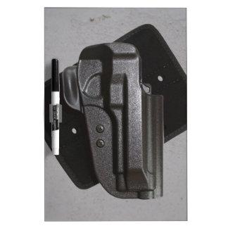 Black Gun / Firearm Holster Dry Erase Boards