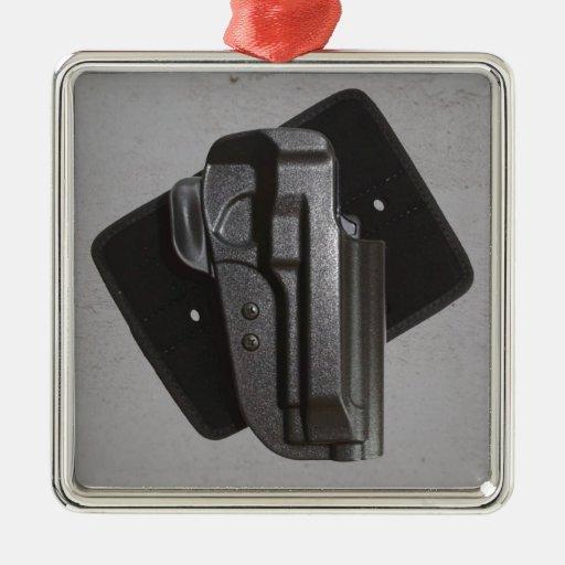 Black Gun / Firearm Holster Christmas Tree Ornaments