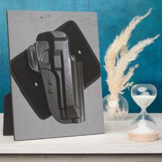 Black Gun / Firearm Holster Display Plaque