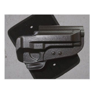Black Gun / Firearm Holster Postcard