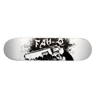 black gun melt skateboard deck