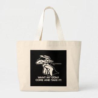 Black Guns 1076 Tote Bags