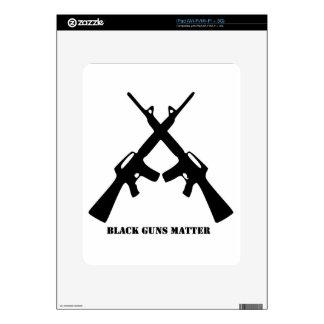 Black Guns Matter Decals For iPad